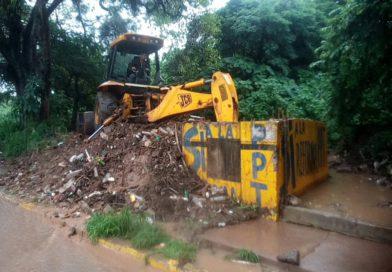 Protección Civil municipal realiza continuas inspecciones en quebrada la Carora ante desbordamiento de la misma