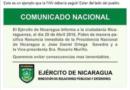 EJEMPLO PARA FAN: Ejército de Nicaragua pide renuncia de Daniel Ortega