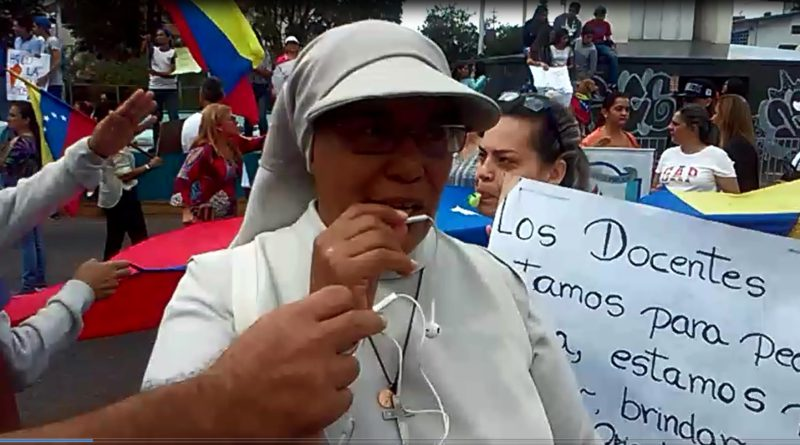 """RELIGIOSA INVITA A MARCHAR: TODOS LOS VENEZOLANOS DEBEMOS SALIR ESTE 23 DE ENERO POR LA PATRIA"""""""